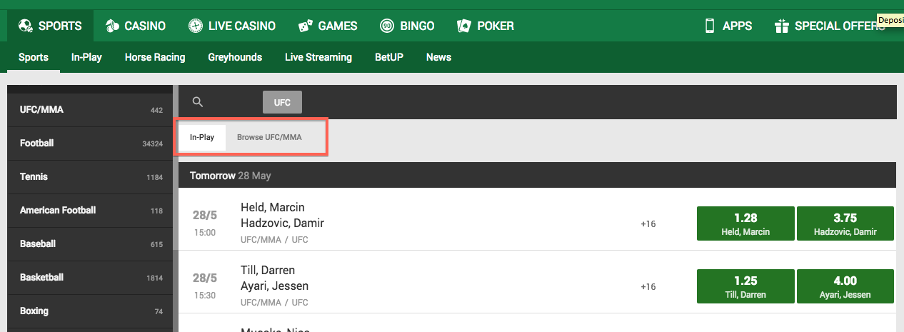 Unibet ufc betting lines betting guide horse racing